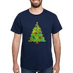 French Horn Christmas Dark T-Shirt
