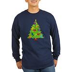 French Horn Christmas Long Sleeve Dark T-Shirt