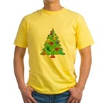 French Horn Christmas Yellow T-Shirt