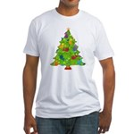 French Horn Christmas Fitted T-Shirt