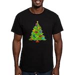 French Horn Christmas Men's Fitted T-Shirt (dark)