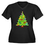 French Horn Christmas Women's Plus Size V-Neck Dar