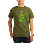 French Horn Christmas Organic Men's T-Shirt (dark)