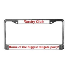 Varsity Club License Plate Frame