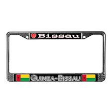 Bissau, GUINEA BISSAU - License Plate Frame