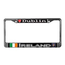 Dublin, IRELAND - License Plate Frame