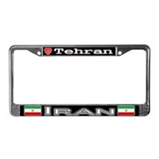 Tehran, IRAN - License Plate Frame