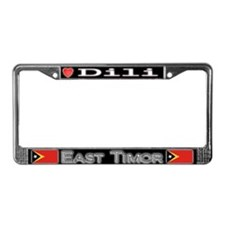 Dili, EAST TIMOR - License Plate Frame