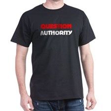 QUESTION AUTHORITY Black T-Shirt