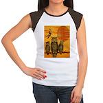 3 Owls Women's Cap Sleeve T-Shirt