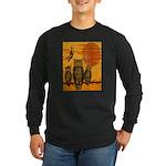 3 Owls Long Sleeve Dark T-Shirt