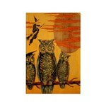 3 Owls Rectangle Magnet (10 pack)