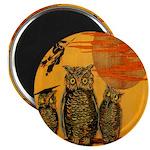 3 Owls Magnet