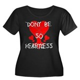 Kingdom Hearts Women's Plus Size Scoop Neck Dark T