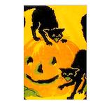 Pumpkin Cats Postcards (Package of 8)