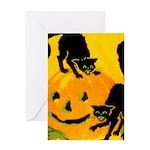 Pumpkin Cats Greeting Card