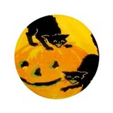 "Pumpkin Cats 3.5"" Button (100 pack)"