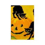 Pumpkin Cats Rectangle Magnet (100 pack)