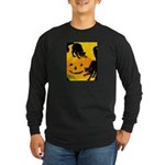 Pumpkin Cats Long Sleeve Dark T-Shirt