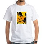 Pumpkin Cats White T-Shirt