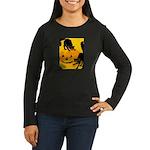 Pumpkin Cats Women's Long Sleeve Dark T-Shirt