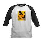 Pumpkin Cats Kids Baseball Jersey