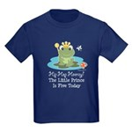 Frog Prince 5th Birthday Kids Dark T-Shirt
