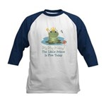 Frog Prince 5th Birthday Kids Baseball Jersey