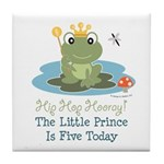 Frog Prince 5th Birthday Tile Coaster