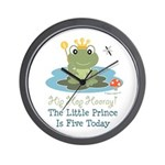 Frog Prince 5th Birthday Wall Clock