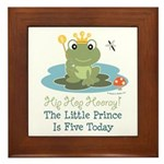 Frog Prince 5th Birthday Framed Tile