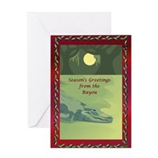 Bayou Gator Greeting Card