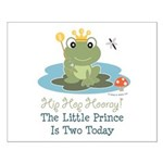 Frog Prince 2nd Birthday Small Poster