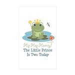 Frog Prince 2nd Birthday Sticker (Rectangle 50 pk)