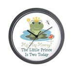 Frog Prince 2nd Birthday Wall Clock