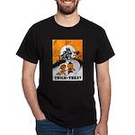 Vintage Trick or Treat Image Dark T-Shirt