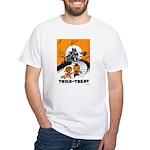 Vintage Trick or Treat Image White T-Shirt