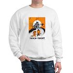 Vintage Trick or Treat Image Sweatshirt