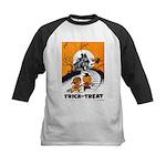 Vintage Trick or Treat Image Kids Baseball Jersey