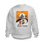Vintage Trick or Treat Image Kids Sweatshirt