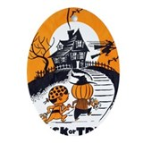 Vintage Trick or Treat Image Ornament (Oval)
