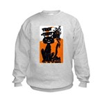 Vintage Trick or Treat Image Kids Sweatshirt
