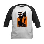 Vintage Trick or Treat Image Kids Baseball Jersey
