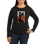 Vintage Trick or Treat Image Women's Long Sleeve D