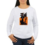 Vintage Trick or Treat Image Women's Long Sleeve T
