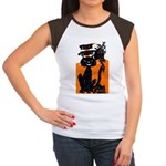 Vintage Trick or Treat Image Women's Cap Sleeve T-