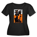 Vintage Trick or Treat Image Women's Plus Size Sco