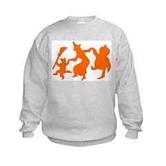 Festive Halloween Dance Kids Sweatshirt