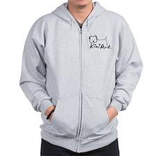 A KiniArt Westie Logo Zip Hoodie