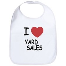 I heart yard sales Bib